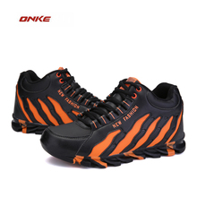 2016  ONKE Promotion Men Winter Autumn Walking Running Sneakers Free Flexible Medium Top  Style Sports  Shoes Big Size Men
