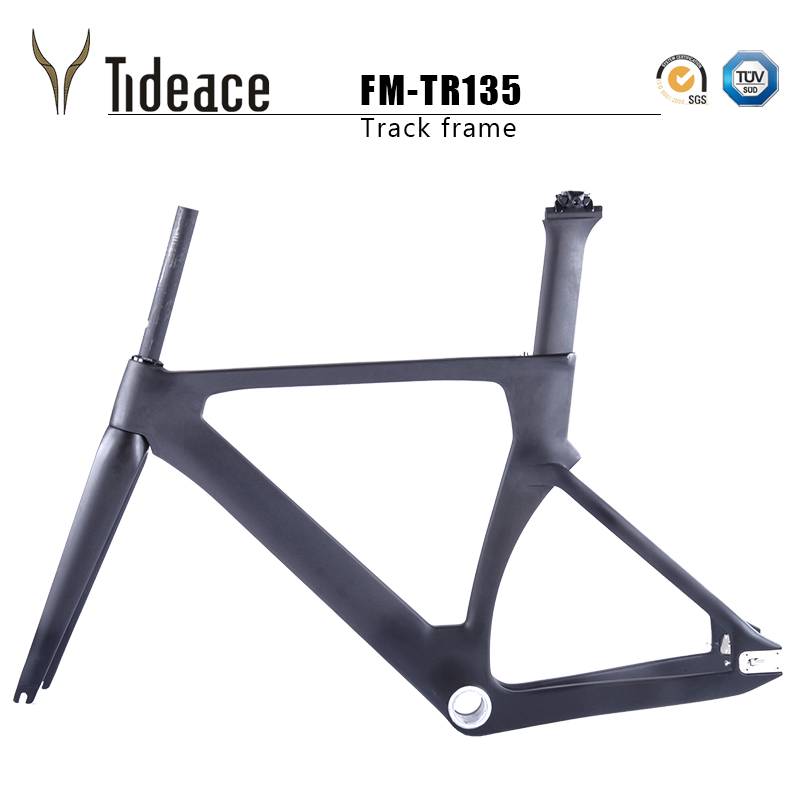 2017 Carbon Track Frame Carbon Fiber Fixed Gear bike frame Carbon Tracking bike Frameset 48/51/54/57cm with fork and seatpost frame 700c 48 50 51 54 58 60cm visp790 fixed gear frame aluminium alloy mountain bicycle frame road bike frame fork