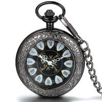 20pcs Steakpunk Fashion Design heart Shape Mechanical Mens Women Pocket FOB Watch with Chain Free Shipping Hand Wind Wholesale