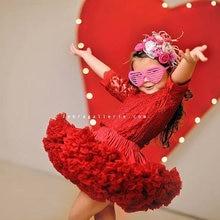 Пышная От 2 до 18 лет шифоновая юбка-американка для девочек; однотонные юбки-пачки; Танцевальная юбка для девочек; Рождественская фатиновая юбка-американка; фатиновая юбка