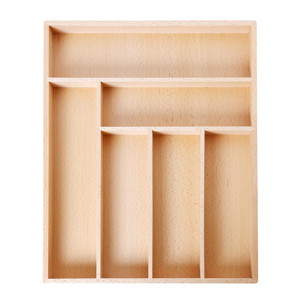Non-Rétractable Hêtre Boîte De Rangement Boîte De Rangement Tiroir à Couverts Western-Style de Haute Qualité Cuisine Tiroir Organisateur