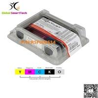 Evolis R5F008S14 YMCKO ribbon cassette 300 prints 5 panels for Zenius Primacy id card printer ribbon