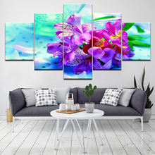 5d diy diamond painting home decorative embroidery 5pcs Orchid Flowers for decoration H284