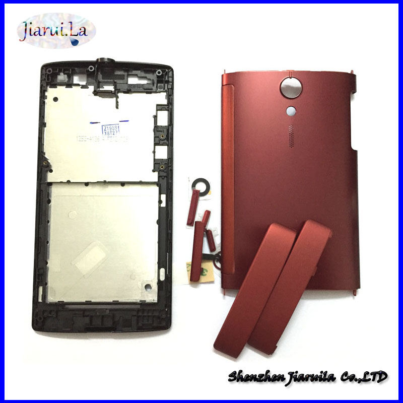on sale d61c1 b446f US $12.5 |New For Sony Xperia Ion LT28i LT28H LT28 Housing Bezel Middle  Bezel Back Cover With Side Button Key -in Mobile Phone Housings from ...