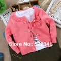 infant baby girls cardigan sweaters knitted sweater 2017 spring autumn kid clothing baby sweaters flower sweaters