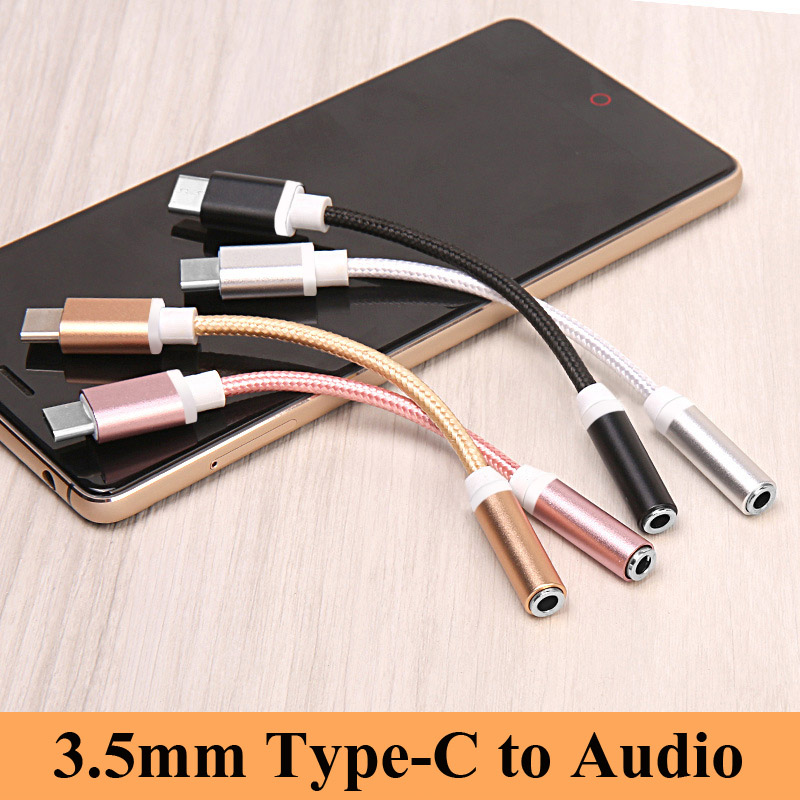Type-C To 3.5mm Earphone Cable Adapter Type C  To 3.5 AUX Audio Female Jack For Xiaomi Mi8 Mi6 For Huawei P20 Mate 10 Pro Le 2