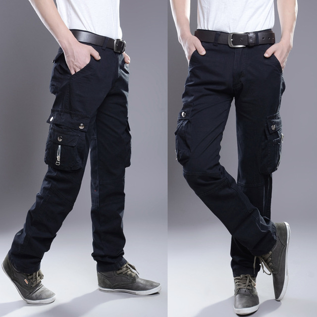 2020 Brand Mens Military Cargo Pants Multi-pockets Baggy Men Pants Casual Trousers Overalls Army Pants Cargo Pants high quality 5