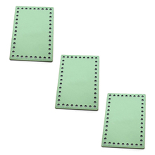 3pcs 16x11cm Bottoms for Knitting Bag Patent Leather Accessories Rectangle Bottom with Holes Candy DIY Handmade Bags