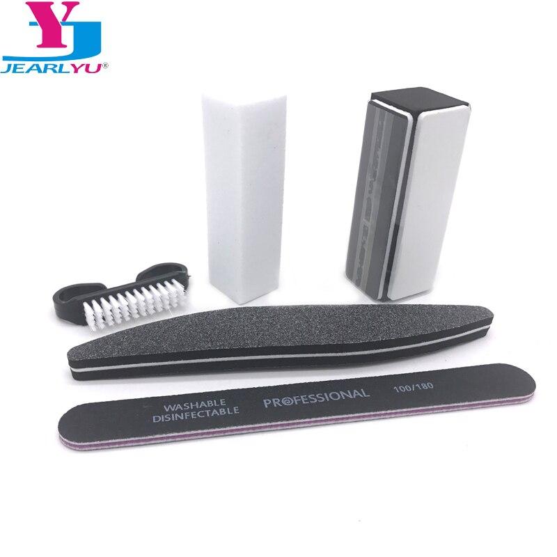 5pcs/Set For Nail Manicure Kit Nail Files Brush Durable Buffing Grit Black Nail Art Accessories Sanding File UV Gel Polish Tools