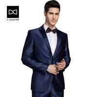 Заказ Wdding костюм Для мужчин формальный костюм Индивидуальный заказ Fit Смокинги для женихов 2 шт.