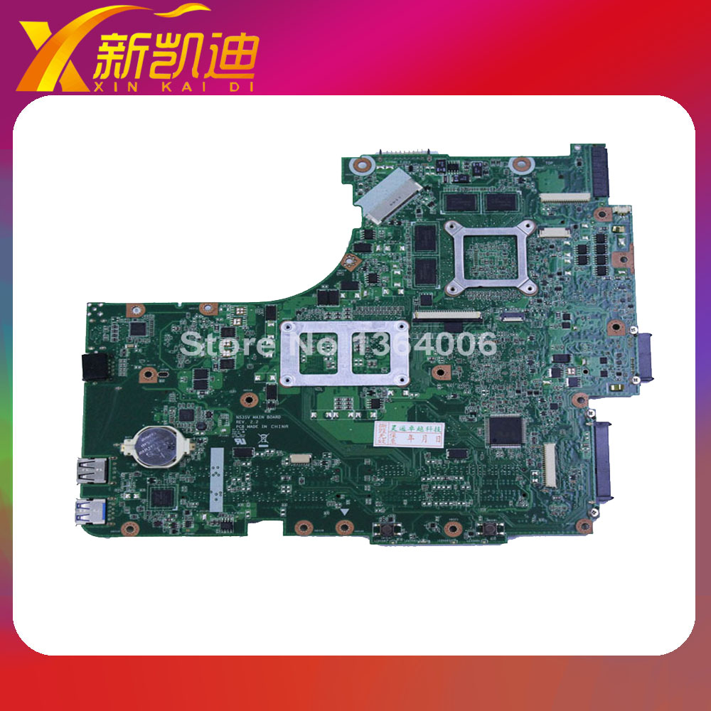For ASUS N53SV N53SM N53SN Original laptop motherboard (mainboard) nvidia GT540M and 2 RAM slots Rev 2.0 1GB free shipping original new for asus n43sl laptop motherboard rev 2 0 ddr3 hm65 gt540m 1g n12p gt a1 mainboard