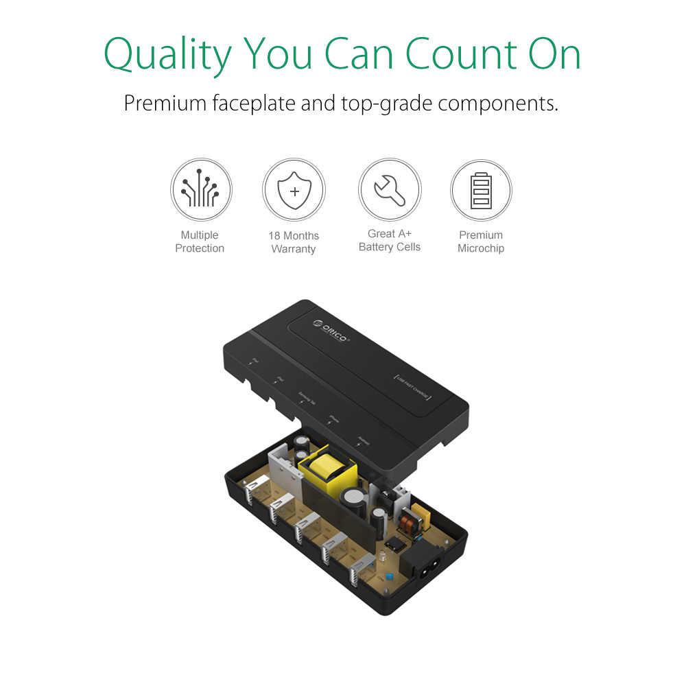 ORICO DCH-5U 5 منافذ سطح المكتب USB شاحن سريع 5 V 6A ماكس 30 W ل فون 6 s/6 /6 زائد باد الروبوت سامسونج تبويب غالاكسي S6 الأسود