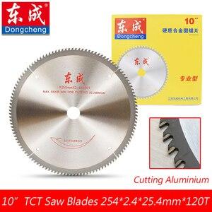 """Image 1 - 10 """"120 zębami TCT ostrza piły tarczowej do Aluminium 255mm 100 zęby pilarka stołowa ostrza do cięcia Aluminium otwór 25.4 lub 20.0mm"""