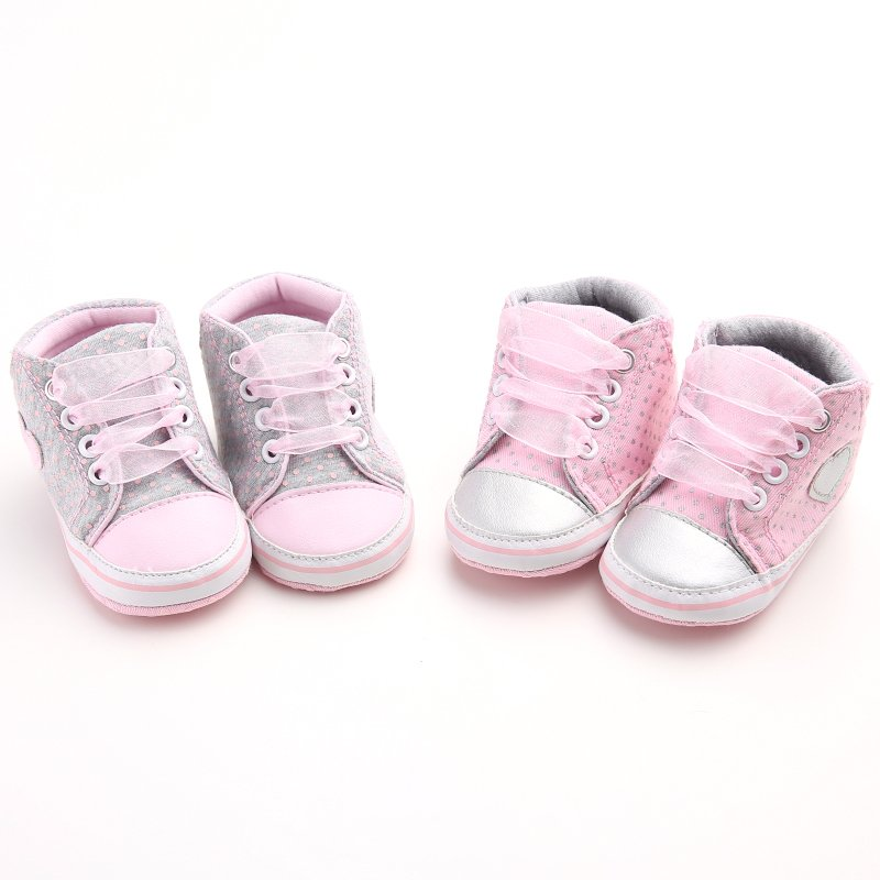 Toddler Newborn Shoes First Walkers Lace Baby Infant Kids Girl Soft Sole Cotton Sneaker 0-18Months shipping from US