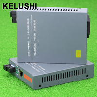 KELUSHI HTB-GS-03 Enternet Gigabit ממיר סיב האופטי Media Converter 1000 Mbps יציאת SC 20 KM כלי סיבים אופטיים מצב יחיד