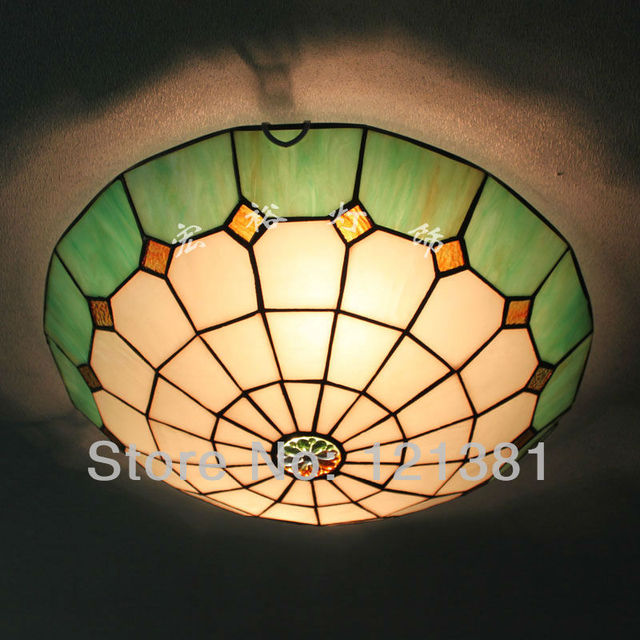 Tiffany style ceiling light stained glass lampshade handcrafted tiffany style ceiling light stained glass lampshade handcrafted classic style lighting fixtures 40cm wide simple design aloadofball Images