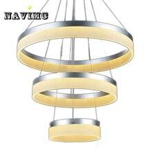 New Modern LED Ring Pendant Light Arcylic Circle LED Pendant Lamp Fixture Suspension Outdoor Pendant Lights