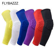FLYBAZZZ High Quality Sport Safety kneepad Football Elbow Brace Support Arm Sleeve Protector Basketball Calf Elastic knee pads basketball knee pads adult football knee brace support leg sleeve knee protector calf support ski kneepad joelheira sport safety
