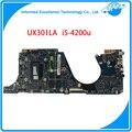 Alta qualidade laptop motherboard para asus ux301la com i5 cpu mainboard 100% testado frete grátis