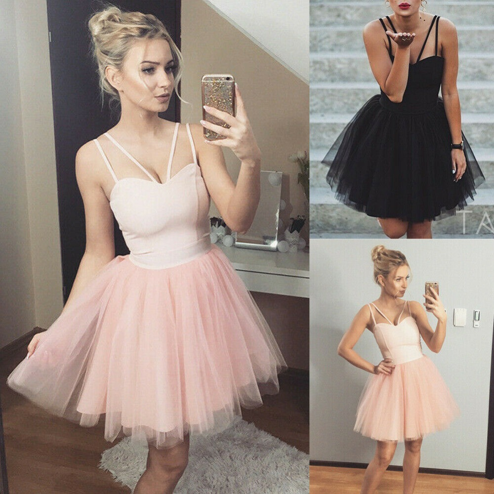 lovely 2019 New Short Cocktail Dresses Formal Tulle sweetheart Party dress custom made in Cocktail Dresses from Weddings Events
