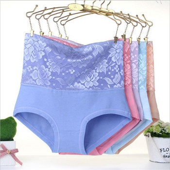 f1434967d4e  2889 LeafMeiry Plus Size Underwear Women Sexy Body Shaper High Wasit  Flower Lace Panties Briefs Women Panties