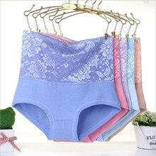 #2889LeafMeiry New Arrival Underwear Women Sexy High Wasit Flower Lace Panties Body Shaper Briefs Women Panties
