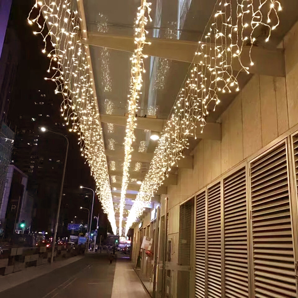 6m*0.5m Icicle Decorative Lights 158 LED String Curtain Light Fairy Christmas Outdoor Home Wedding Garden Party Decoration JQ