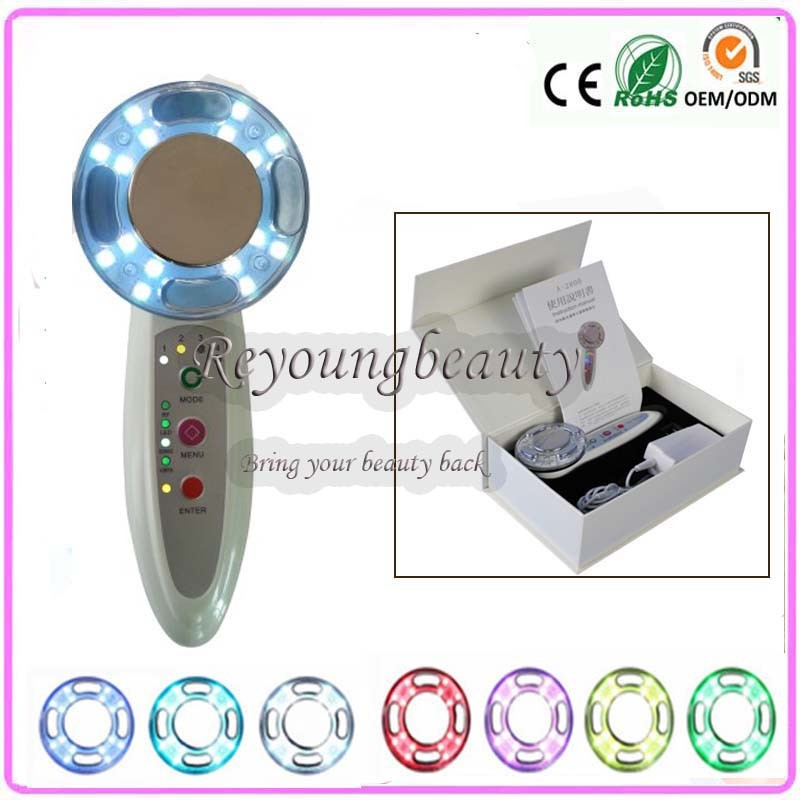 4 IN 1 Sonic Vibration RF Radio Waves Frequency EMS Led Photon Body Skin Firming Facial Rejuvenation Beauty Instruments