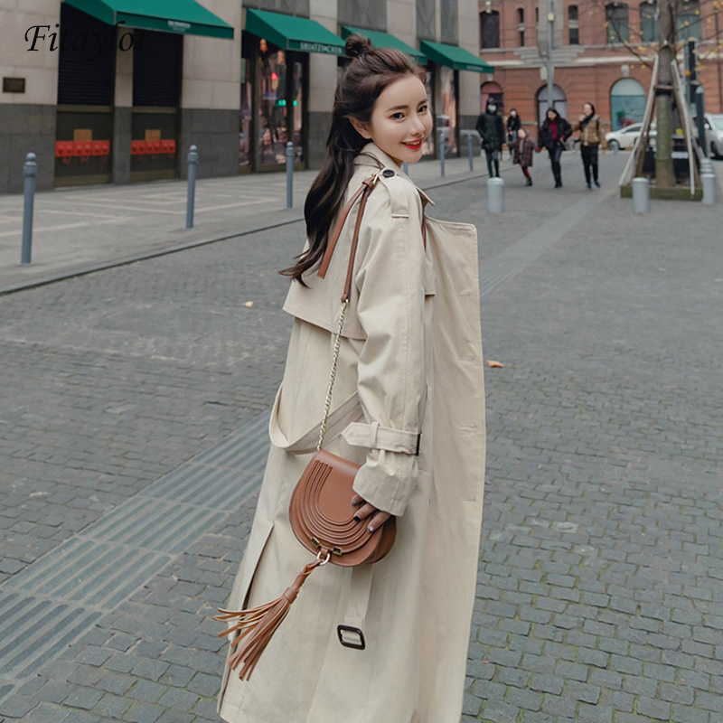 Fitaylor Women Jacket Winter Long Trech Coat Warm Oversize Windbreaker Ladies Chamarra Cazadora Mujer Coat