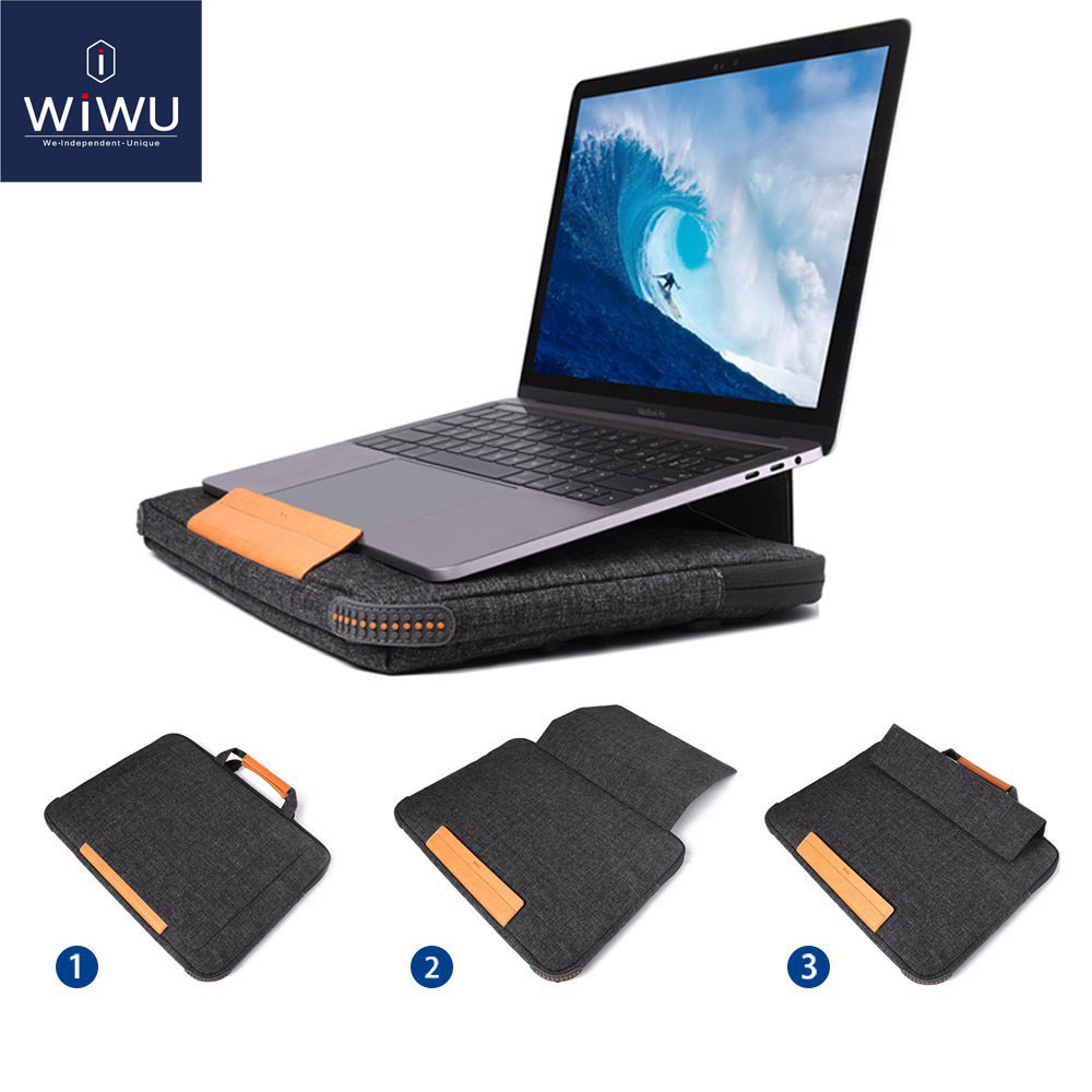 New Stand Laptop Bag Case for MacBook Air Pro 13 15 2018 Portable Laptop Bag for Lenovo 14 Inch Multi Pockets Notebook Bag 13 15New Stand Laptop Bag Case for MacBook Air Pro 13 15 2018 Portable Laptop Bag for Lenovo 14 Inch Multi Pockets Notebook Bag 13 15