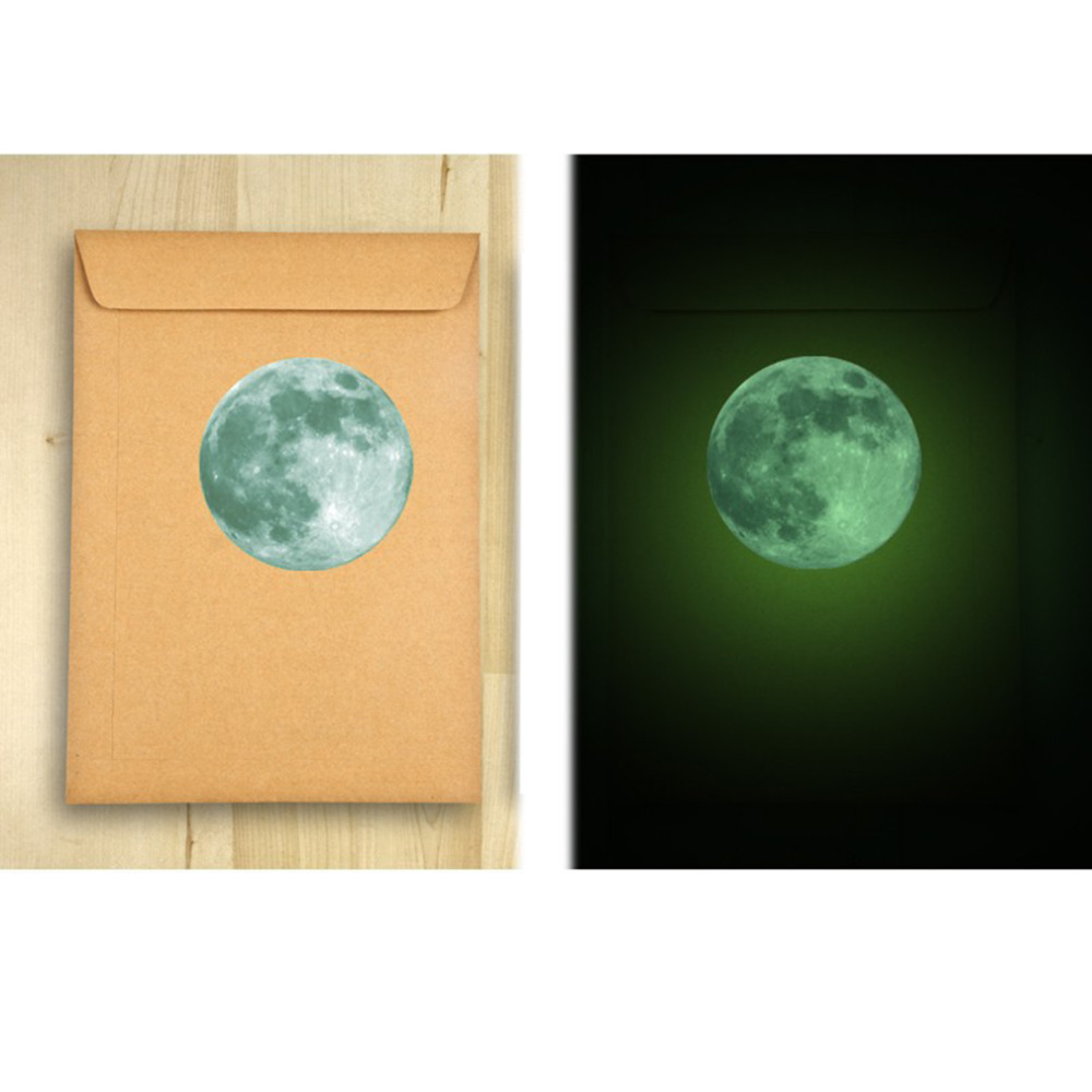Hot Sale! 4 Colors Fluorescent Moon Wall Stickers Home Decor ...