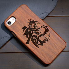 Natural Bamboo Wooded Carving Shockproof Cases