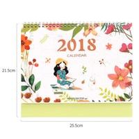 2018 Table Calendar Small Flower Kawaii Desk Calendario Paper Calendar Weekly Planner Organizer Memo Calendario