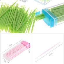 3 boxes/150pcs Portable Toothpicks Plastic  Plus Brush In Clear Case Eco-friendly No Smell Toothpick