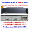 H 265 CCTV Motion Detect NVR With Audio 36ch 64ch 4K 5mp 3mp 2mp IP Security