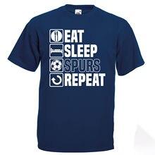 Eat Sleep Spurs T Shirt Funny  Tottenham Fathers Day Birthday Gift  2018 New 100% Cotton T-Shirts Men tottenham huddersfield