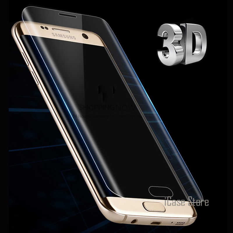 3D Curved Round Edge Toughed Full Cover Film For Samsung Galaxy S7 edge S6 Edge S8 Plus Screen Protector ( Not Tempered Glass )