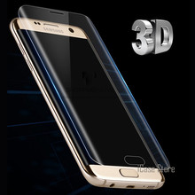 3D Curved Round Edge Toughed Full Cover Film For Samsung Galaxy S7 edge S6 Edge S8 Plus Screen Protector ( Not Tempered Glass )(China)