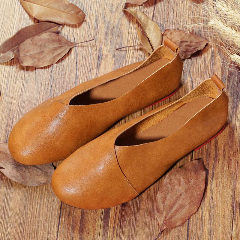 Women Flats Genuine Leather Shoes Loafers Elegant Moccasins Casual Shoes Women Comfortable Female Shoes Soft Ladies Shoes ABT711 top brand high quality genuine leather casual men shoes cow suede comfortable loafers soft breathable shoes men flats warm