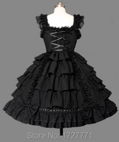 women summer sweet dress lolita dress chiffon lace medieval gothic dress princess cosplay halloween costumes for girl