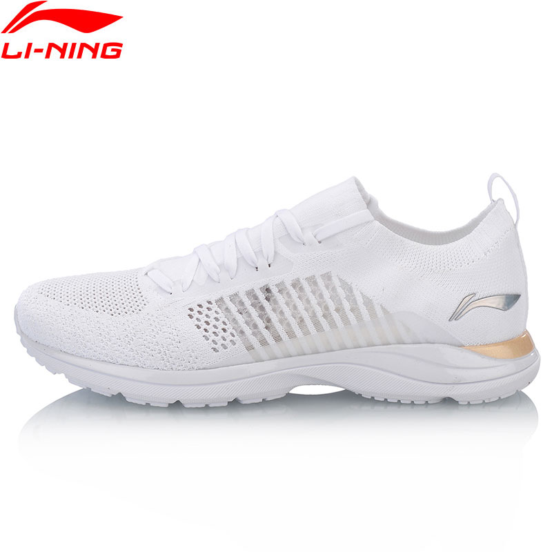 Li Ning Women Super Light XV Running Shoes LiNing Cloud Lite Sneakers Woven Sock Breathable Comfort