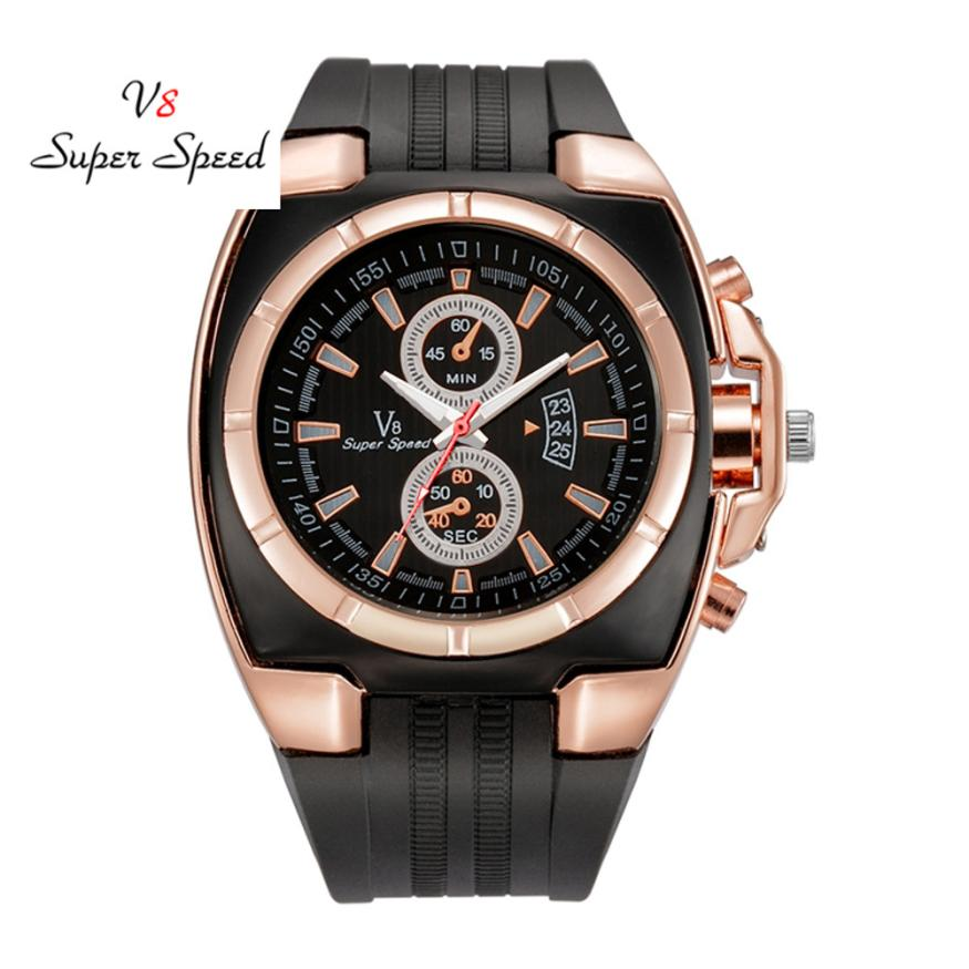 Men's Watch 1PCS Fashion Men's Thin Silica Gel Students Sports Quartz Watch Drop Shipping            2018JUL12