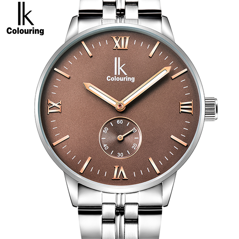 IK 2017 New Fashion Mens Watches Top Brand Luxury Automatic Self-Wind Watch Men Full Steel Clock Male Luminous relogio masculino skeleton men self wind leather mechanical automatic watch mens watches top brand luxury male clock relogio automatico masculino