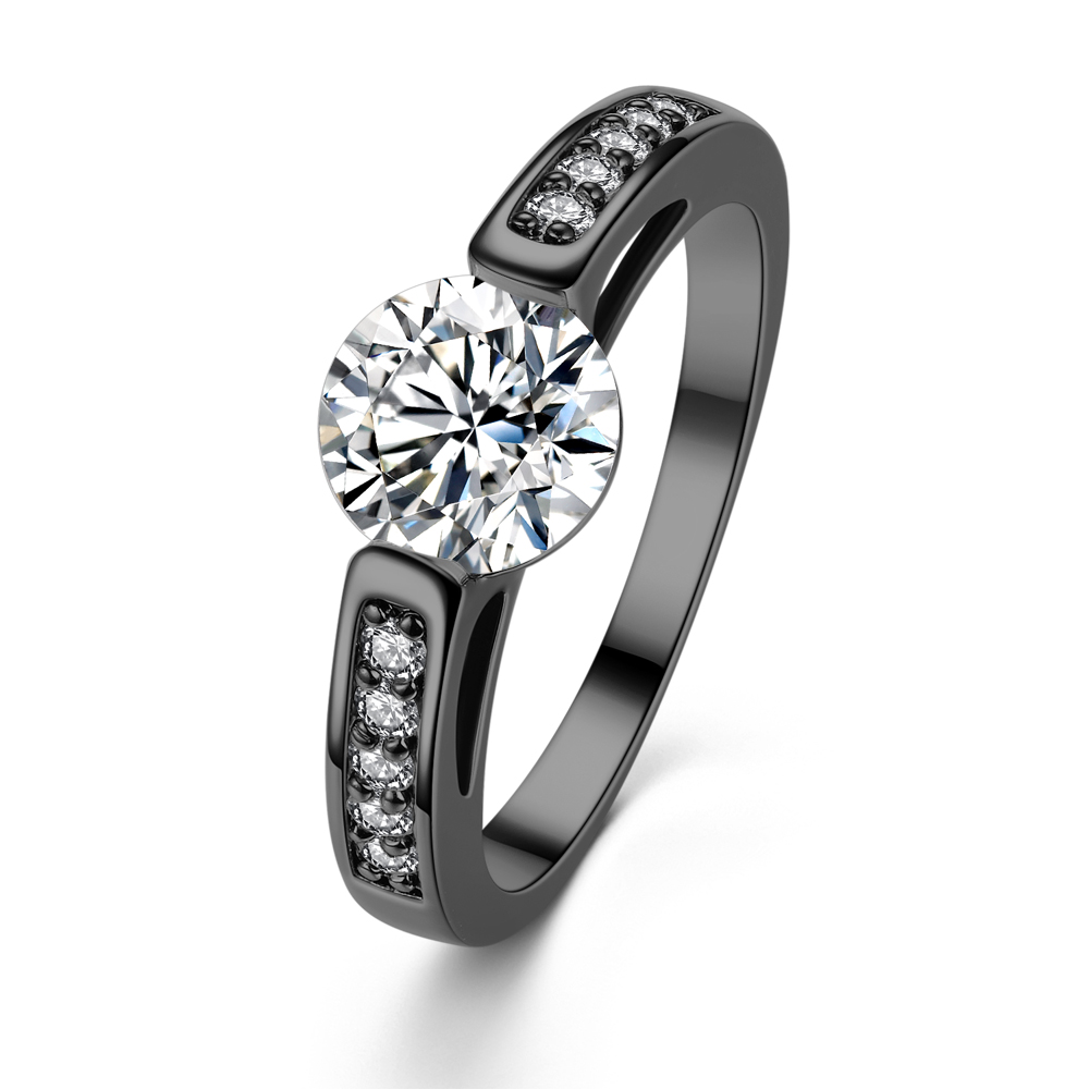 promotion western style engagement rings promotion western style wedding rings choucong Luxury Women Fashion Full princess cut 20ct 5A Zircon cz White Gold Filled 3 Engagement Wedding Band Ring Set Gift