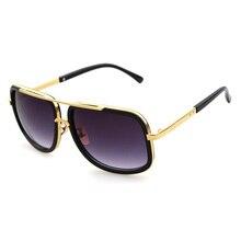 2019 de los hombres de gran marco gafas de sol Vintage steampunk mujer gafas de sol de gran maestro UV400