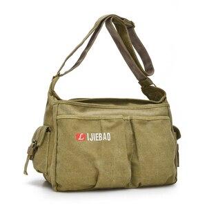 Image 2 - 2020 Fashion Teen Boys Shoulder Messenger Bag Canvas Lightweight Tote bag Large Capacity Travel Crossbody Bag Bolsa Sac A Main