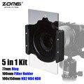 5in1 Zomei Площадь Фильтра 100x150 мм Нейтральной Плотности ND2 ND4 ND8 + 100 мм Многофункциональный Держатель Фильтра + 77 мм Кольцо для Cokin Z ЛИ