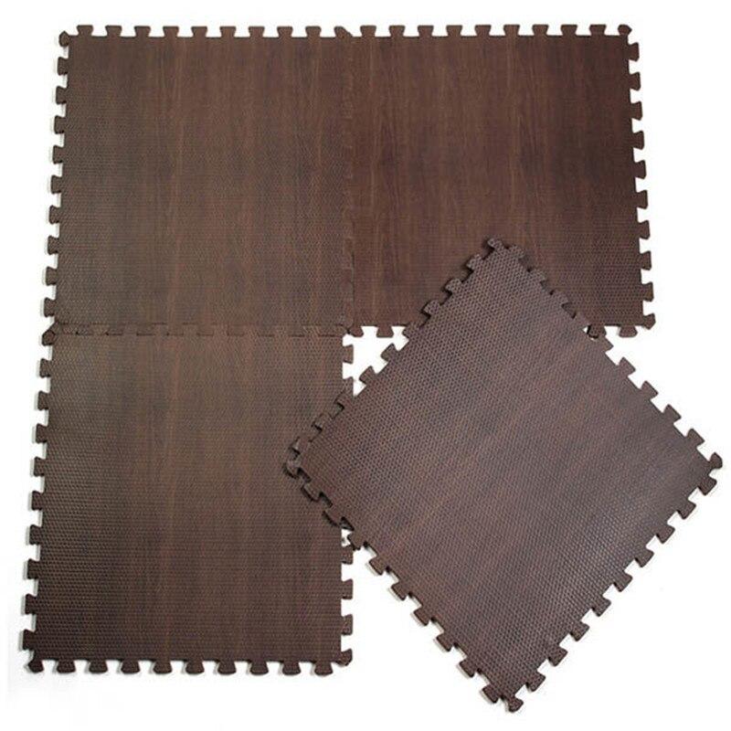 Wood Grain Ground Soft eva puzzle crawling pad foam floor mat waterproof rug for child kids baby bedroom gym 30*30*1cm Baby bath