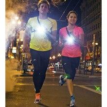 NUEVO Popular Sport Outdoor Running Lights Q5 LED Noche Pecho Corriendo Luces de Advertencia de la Linterna de Carga del USB Lámpara de la Antorcha de Luz Blanca