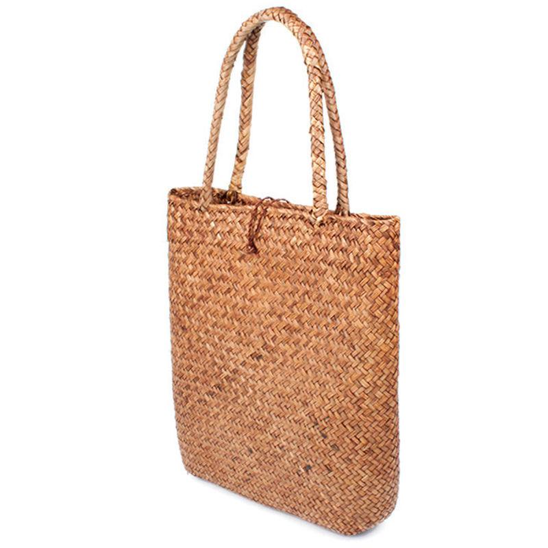 FGGS-Women Handbag Summer Beach Bag Rattan Woven Handmade Knitted Straw Large Capacity Totes Women Shoulder Bag Bohemia New 10